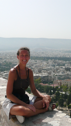 Leslie Hammond on the Acropolis